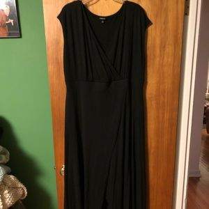 Torrid Black Wrap-Style Dress - Size 2
